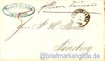 Schiffspostbrief von 1868